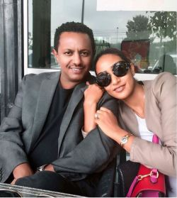 Ethiopian music superstar Teddy Afro and his wife Amletset Muchie