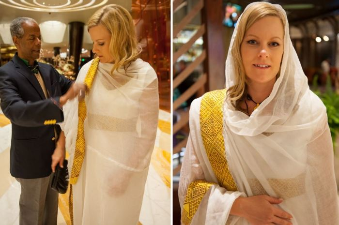 Wearing Ethiopian cultural dress for wedding | Tewnet.com
