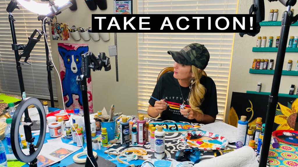 Take action and find your purpose after bankruptcy - paint parties, small business, bankruptcy stories.