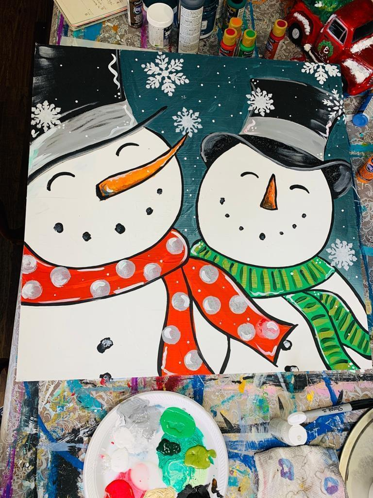 paint party as a christmas tradition
