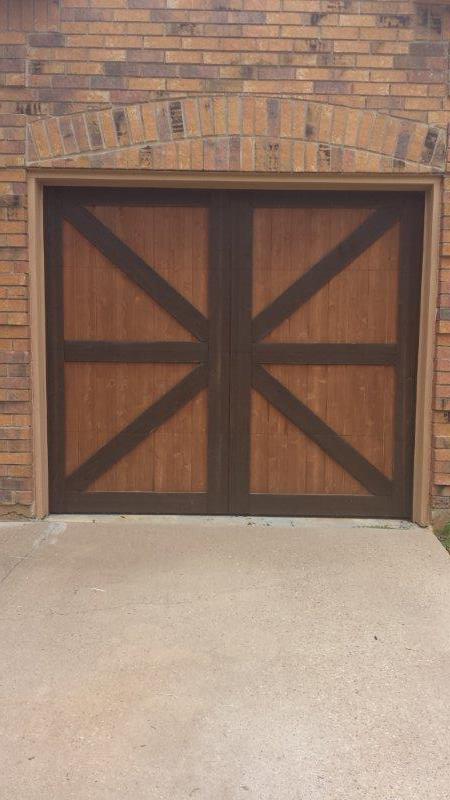 Garage Door Shutter and Column Staining  Texas Best Stain