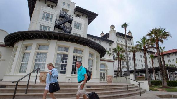 The Historical Galveston Hotel Galvez has a New Owner, New Name, and a Fresh Paint Job