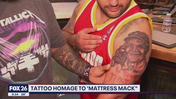 Mattress Mack tattooed