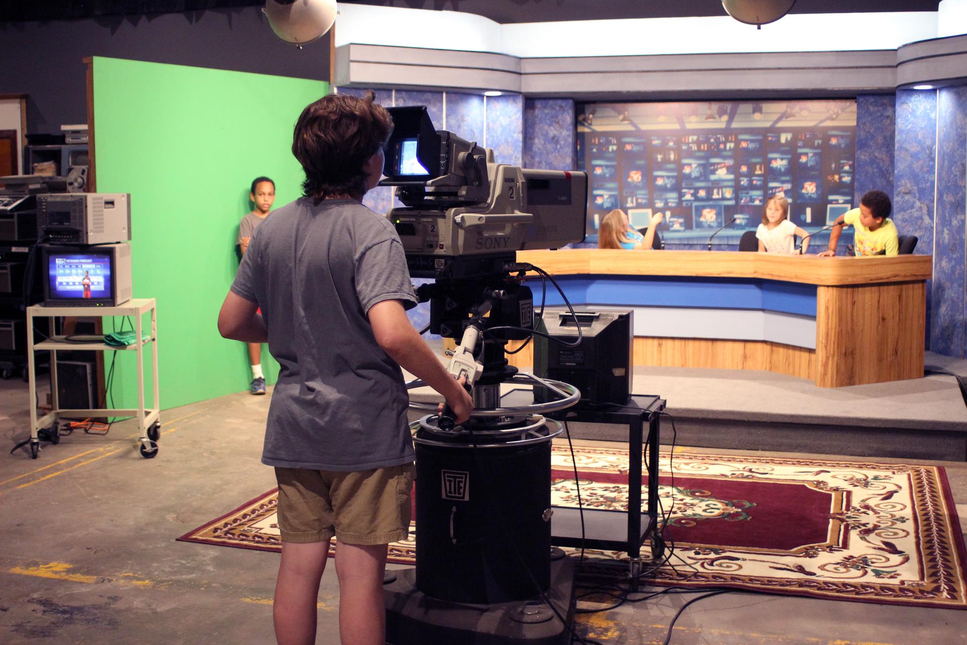 Television News Studio  Texas Broadcast Museum