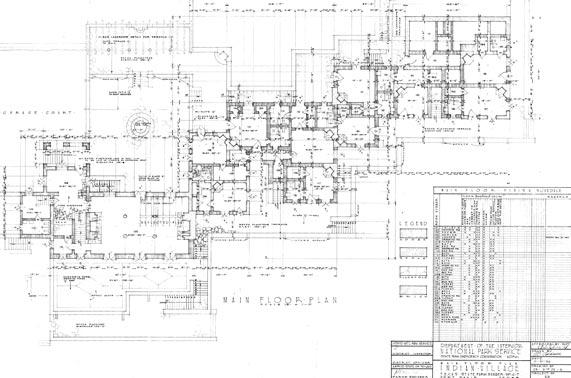 TPWD Item: Main Floor Plan, Indian Village, October 31, 1934