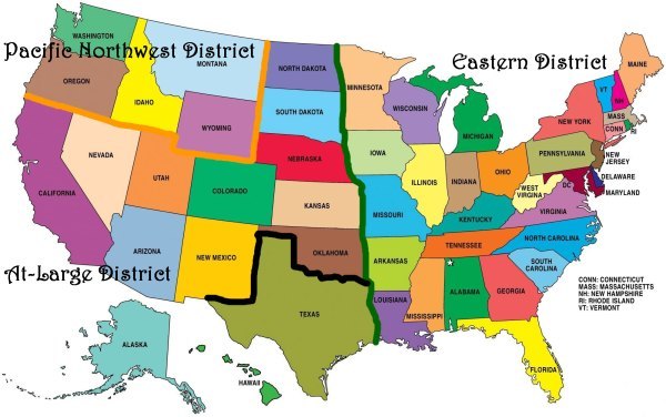 US Districts Map