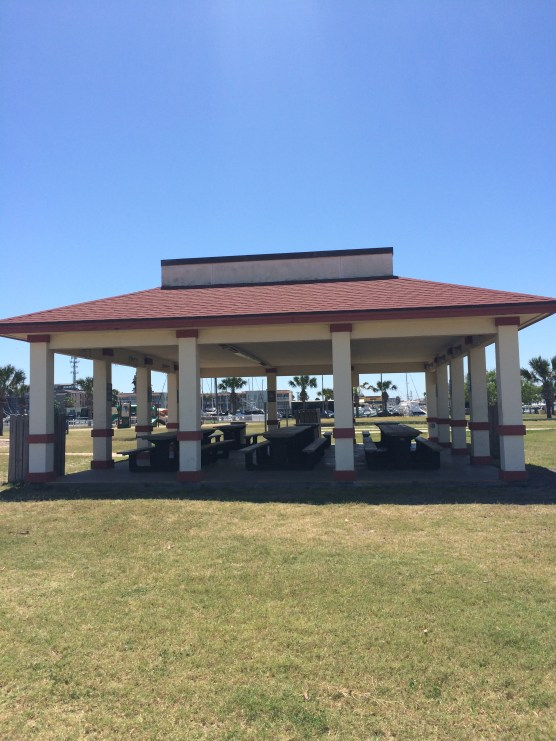 One of the pavilions at Roberts Point Park in Port Aransas