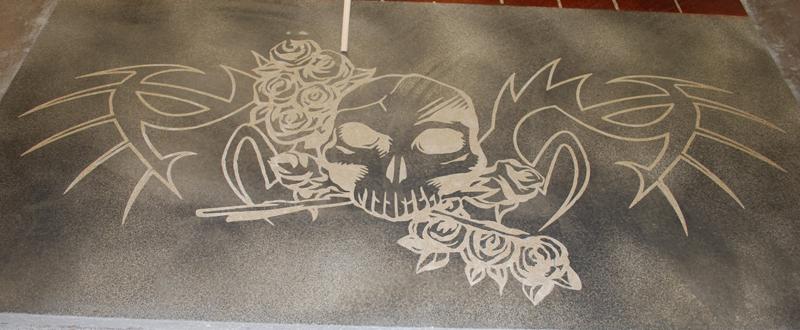 Decorative Concrete Logo Etching  ESR Decorative Concrete