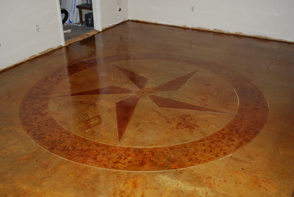 Stained Concrete Design  Home Design Elements