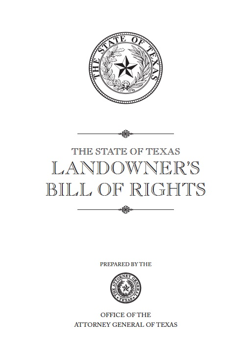 Landowner's Bill of Rights TX