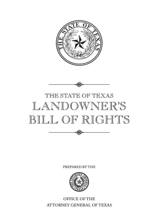 Landowner's Bill of Rights TX