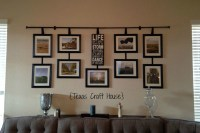 Wall Dcor Curtain Rod with Hanging Frames | Texas Craft House