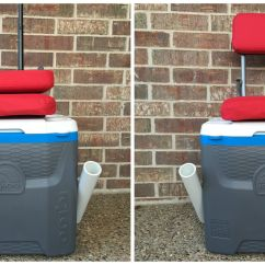 Fishing Cooler Chair Aluminum Chaise Lounge Pool Chairs Mickey Mouse Texas Craft House Convenient