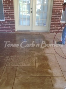 Concrete Staining Color Restoration After Image