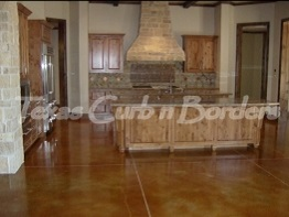 Custom Concrete Floor Staining After Image