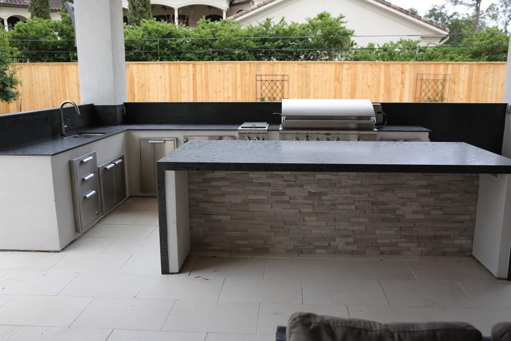 summer kitchens custom kitchen texas granite charcoal grey brushed