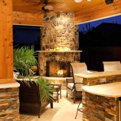 Outdoor Kitchen With Fireplace Play For Toddler Patio Cover And In Firethorne Texas