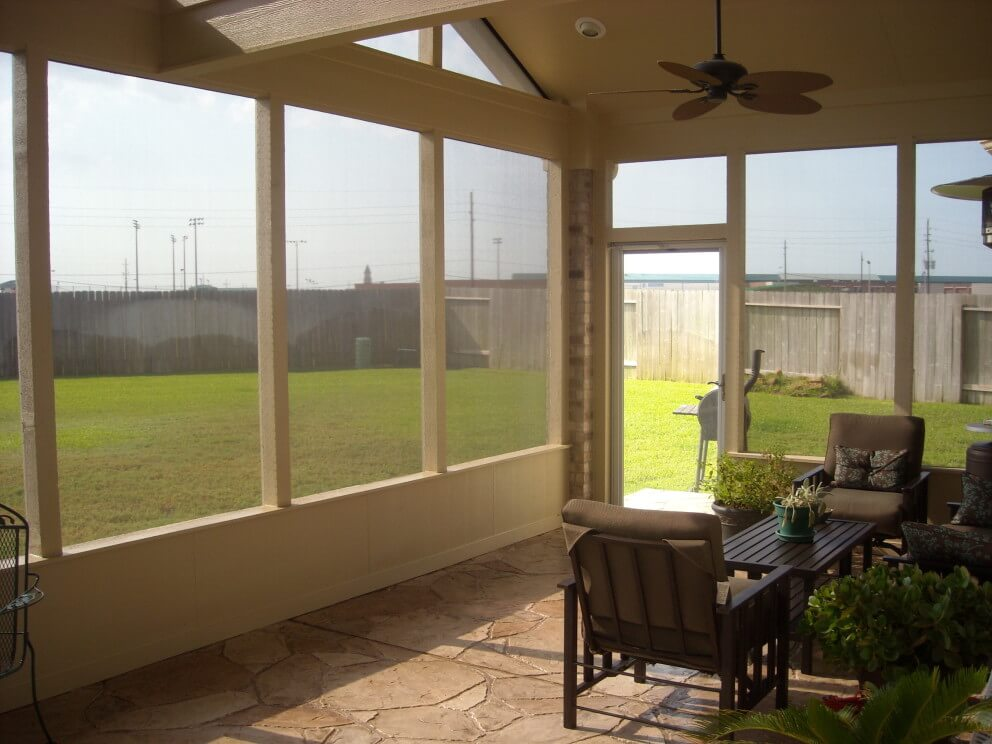 Screened Porch In Falcon Landing Texas Custom Patios