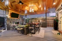 Contemporary Outdoor Living Room In Montrose - Texas