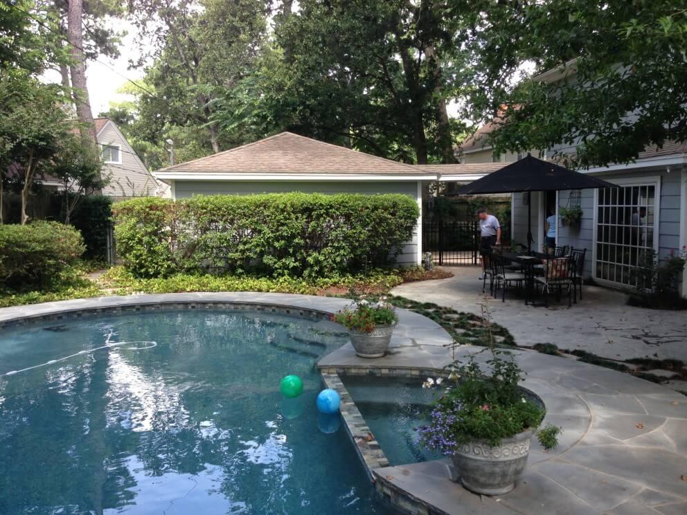 Patio Cover Built Off Garage Amp Outdoor Kitchen In Memorial