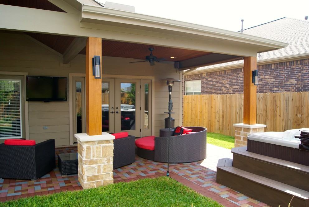 Katy Pine Mill Ranch Patio Cover  Texas Custom Patios