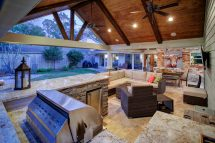 Outdoor Living And Remodeled Garage In West Memorial