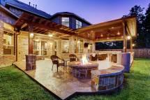 outdoor living space in woodlands