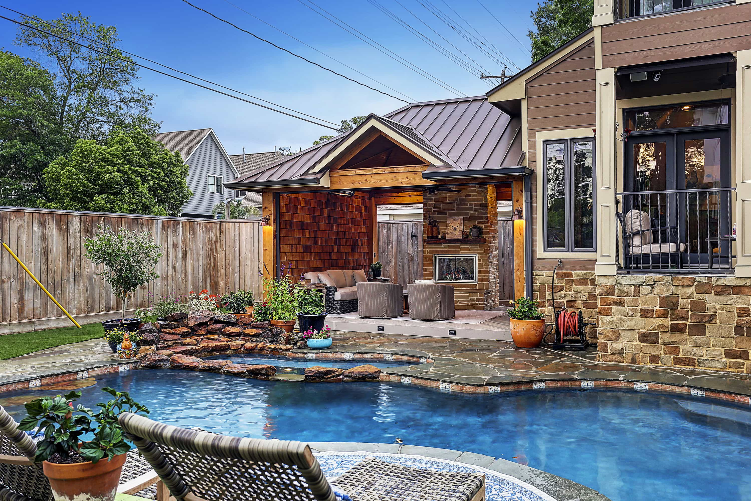 Cozy Space in The Heights  Houston  Texas Custom Patios