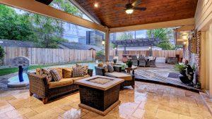 Outdoor Living Room In Walnut Bend Area Houston Texas