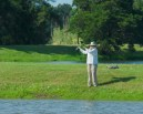 New member casting to fish on Eagle Lake