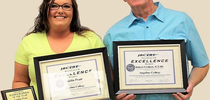 Pratt, Graham honored by Angelina College radiography faculty and students