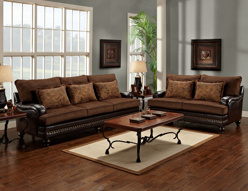 leather and chenille sofa full grain sectional page title