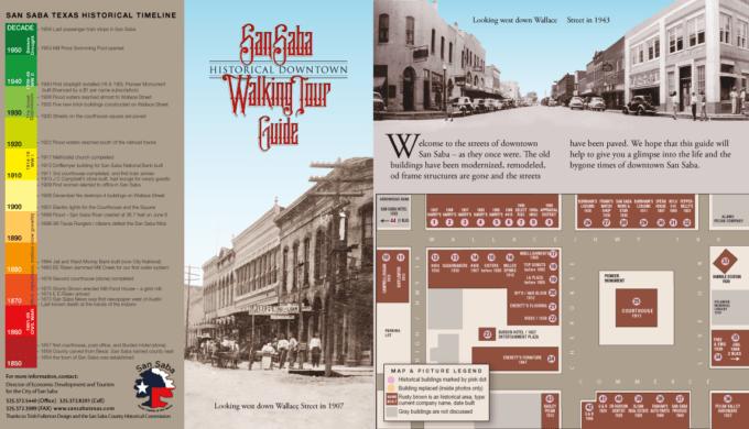 San Saba Historical Walking Tour Map
