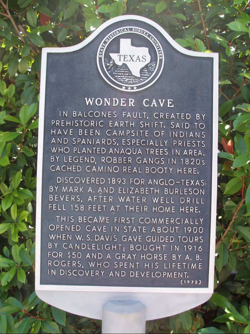 Cave - Texas Historical Markers