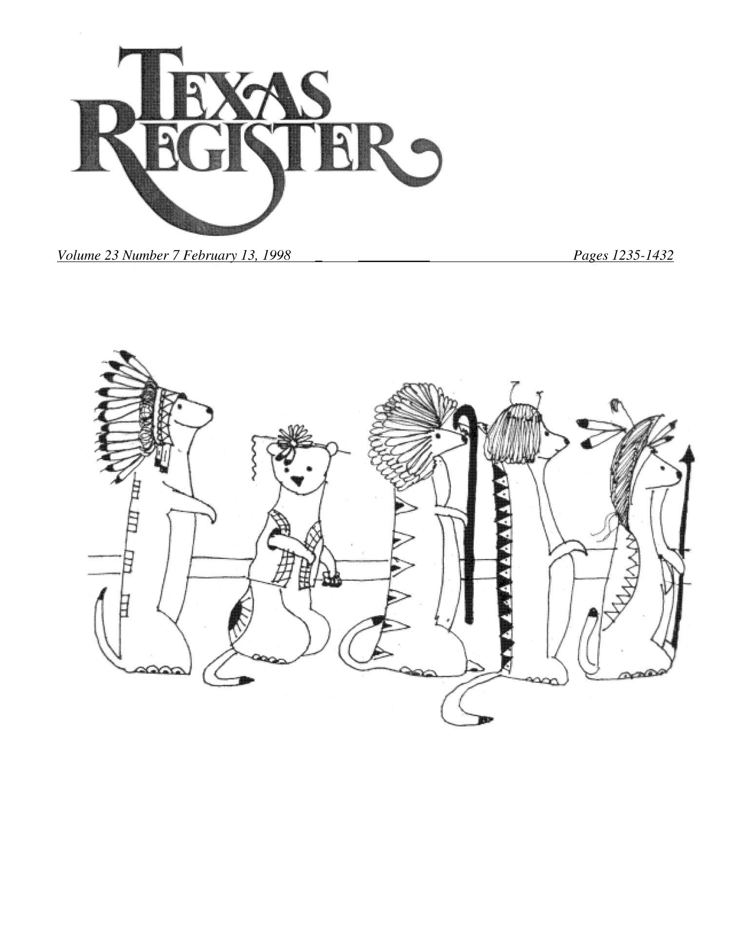 Texas Register, Volume 23, Number 7, Pages 1235-1432