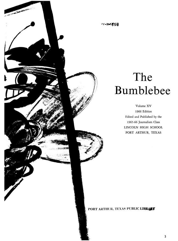 The Bumblebee, Yearbook of Lincoln High School, 1966, Page