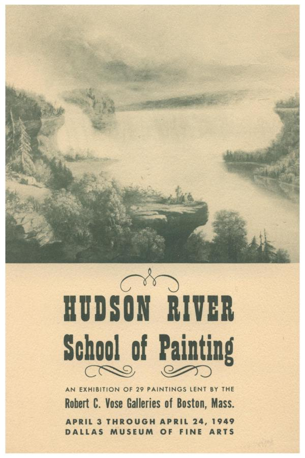 Hudson River School Of Painting Exhibition 29 Paintings Lent Robert . Vose
