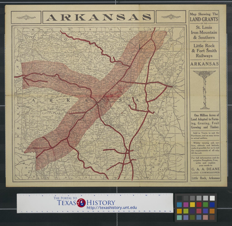 Map Southern Arkansas