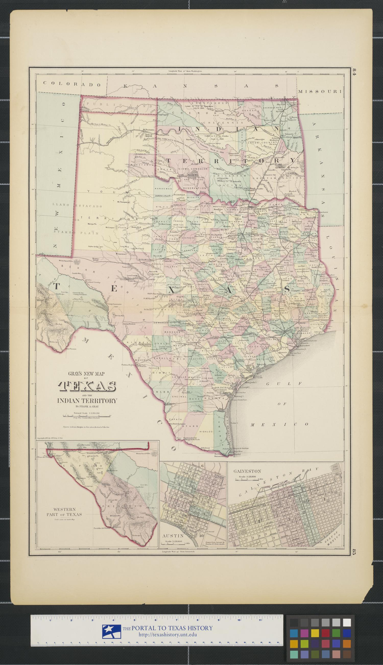 Map Tx Counties And Towns