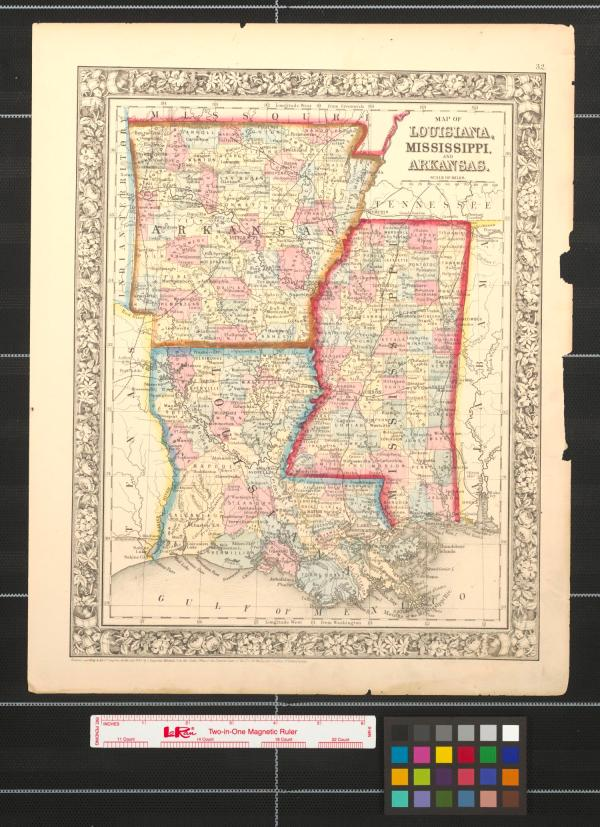 Map of Louisiana Mississippi and Arkansas The Portal