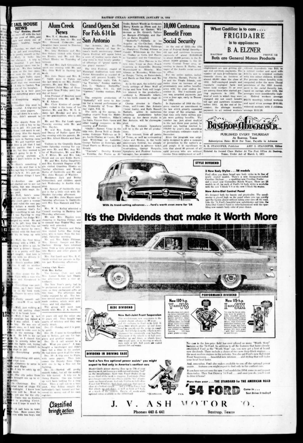 medium resolution of bastrop advertiser bastrop tex vol 101 no 46 ed 1 thursday january 14 1954 page 3 of 8 the portal to texas history
