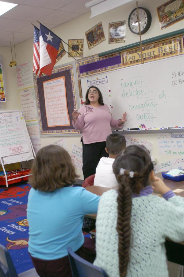 Teacher Conducts Class In Crockett Elementary