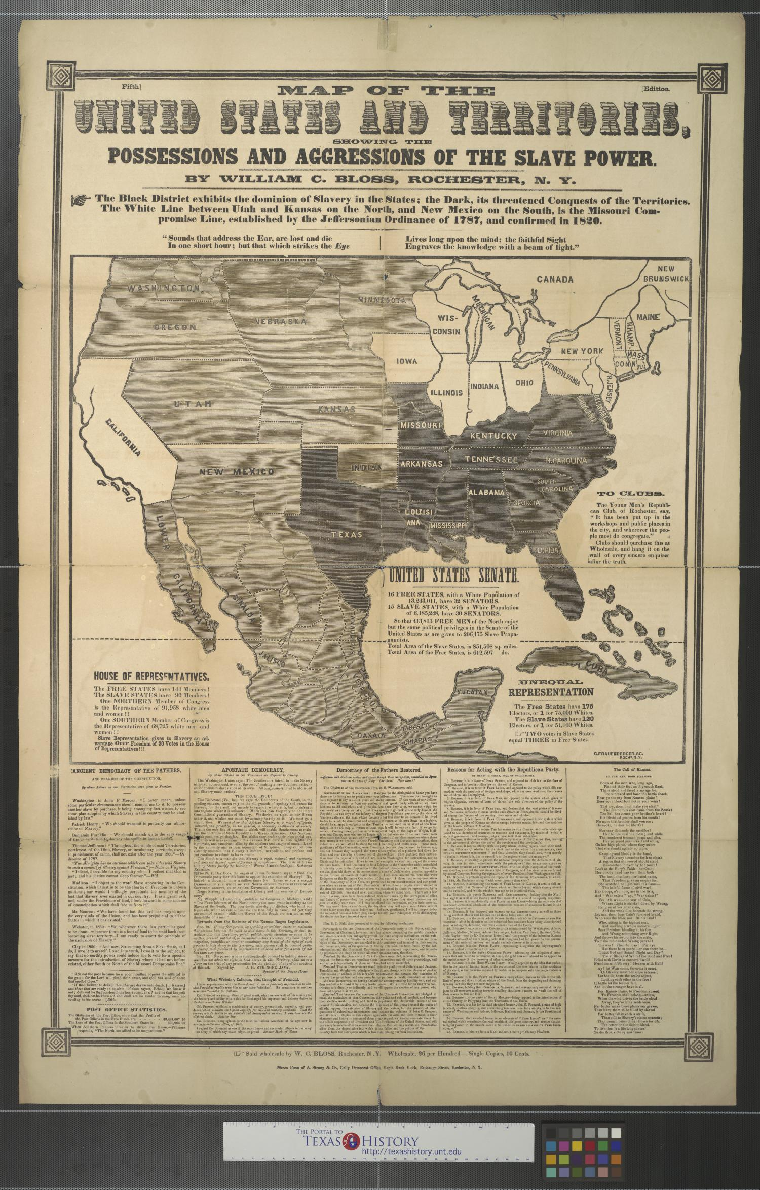 Map Border Mexico Us And