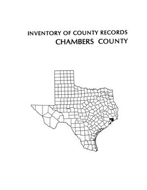 Inventory of county records, Chambers County courthouse