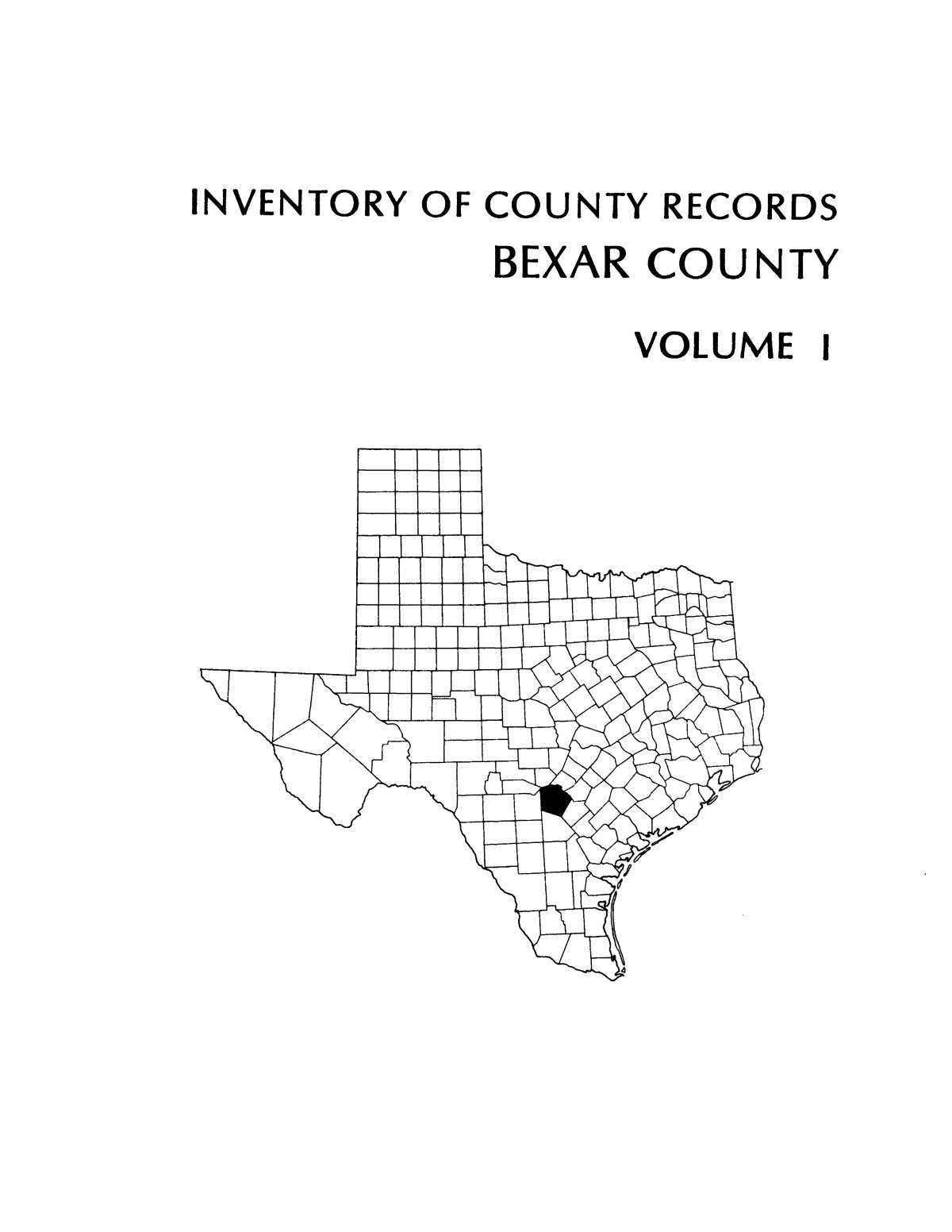 Inventory of county records, Bexar County courthouse, San