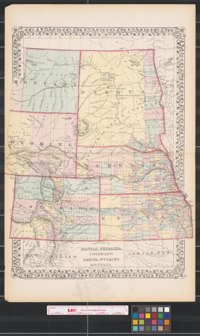 Map Of Colorado And Wyoming : colorado, wyoming, County, Kansas,, Nebraska,, Colorado,, Dakota,, Wyoming,, Montana., Portal, Texas, History