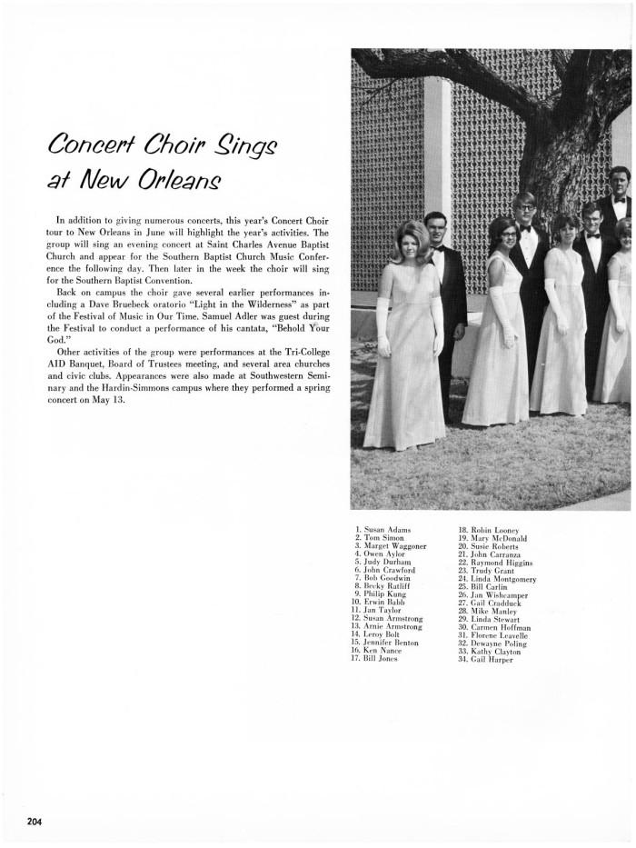 The Bronco, Yearbook of Hardin-Simmons University, 1969