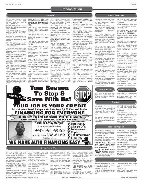 small resolution of the greensheet dallas tex vol 34 no 168 ed 1 friday september 17 2010 page 41 of 44 the portal to texas history