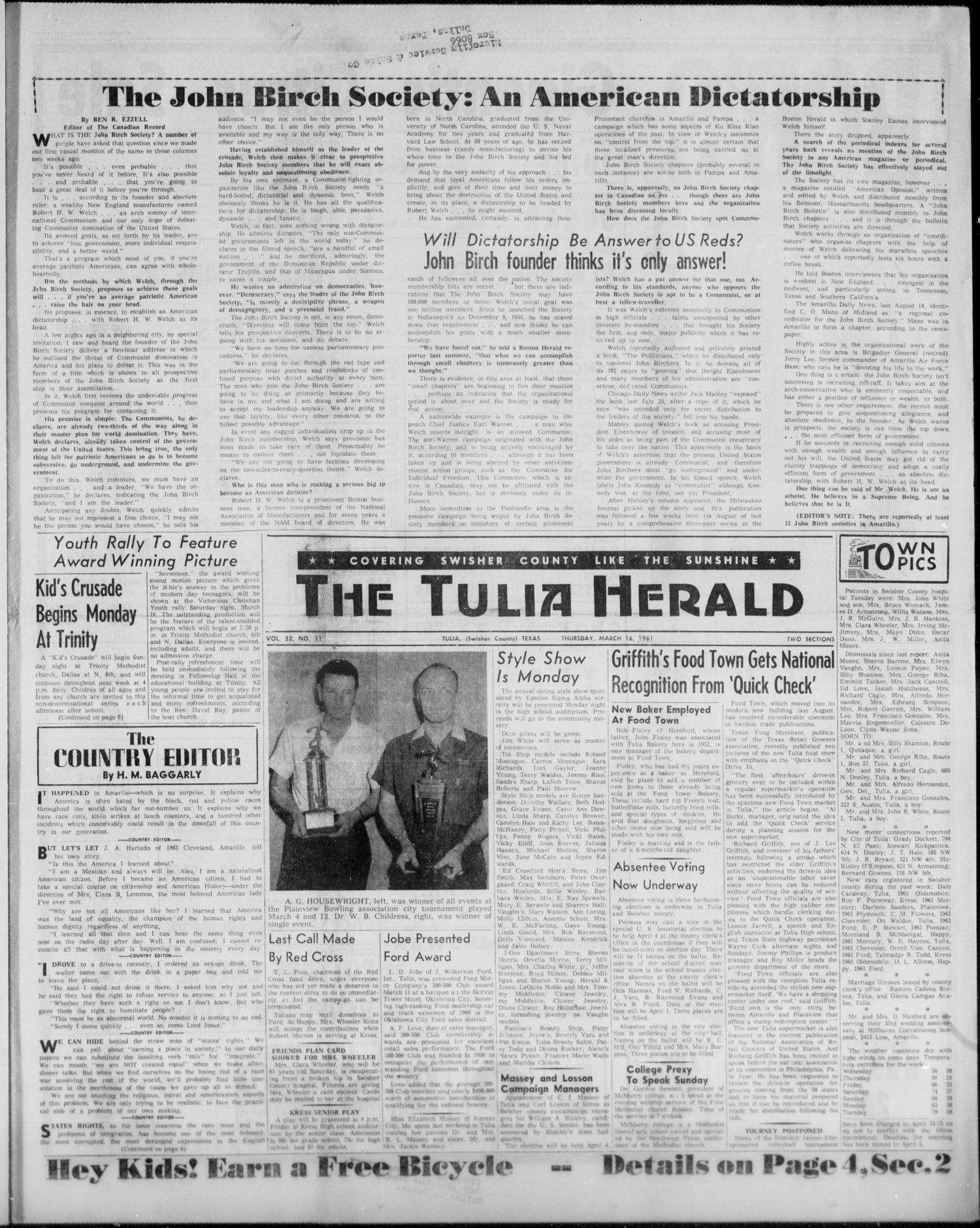 The Tulia Herald (Tulia, Tex), Vol. 52, No. 11, Ed. 1