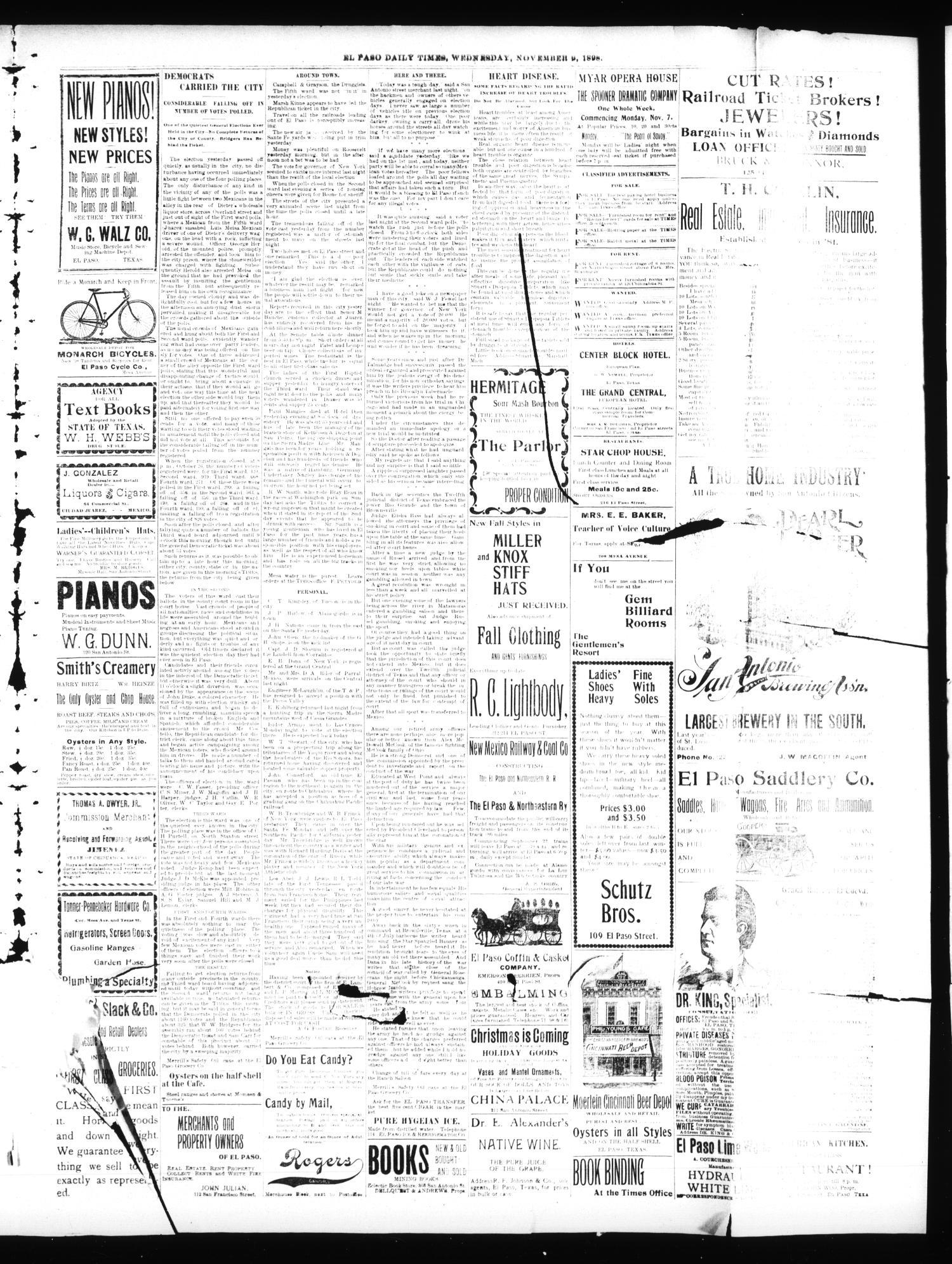 hight resolution of el paso international daily times el paso tex vol 18 no 268 ed 1 wednesday november 9 1898 page 3 of 4 the portal to texas history